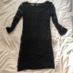 Black lace dress with keyhole in back